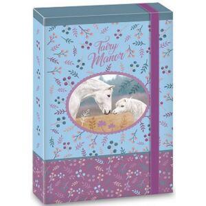 FüzetboxA5 gumis Lovas Fairy Manor tündérvilág lovas 18 Ars Una dosszié kollekció