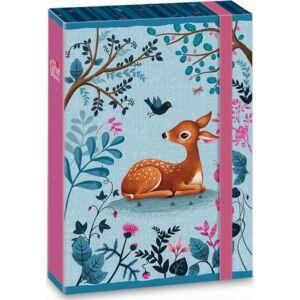 """FüzetboxA5 gumis My Secret Garden - őzikés Easy 19"""" Ars Una dosszié kollekció"""