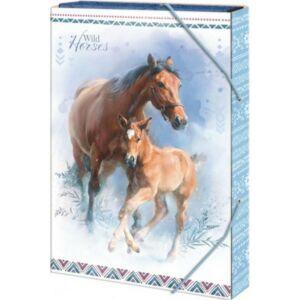 Füzetbox A/5 Wild Horses-lovas