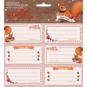Füzetcímke 3x6db Ars Una Woodland Magic - Erdő állatok mókus 17 csomagolt kollekció