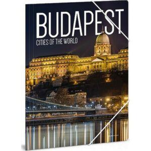 Gumis mappa A4 Ars Una Cities-Budapest 21' Prémium minőség