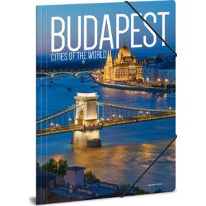 Gumis mappa A4 Budapest 20' Cities-Budapest - Ars Una kollekció iskolaszezonos gumis dosszié kollekció