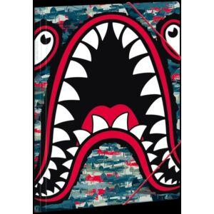 Gumis mappa A4 cápa 20' Ars Una Flying Shark - Ars Una iskolaszezonos gumis dosszié kollekció