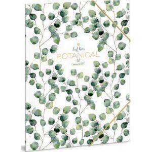 Gumis mappa A4 Leaf 20' Botanic Leaf - Ars Una iskolaszezonos gumis dosszié kollekció