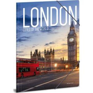 Gumis mappa A4 London 20' Cities-London - Ars Una kollekció iskolaszezonos gumis dosszié kollekció