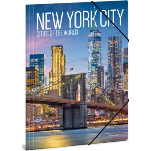 Gumis mappa A4 New York 20' Cities-New York - Ars Una kollekció iskolaszezonos gumis dosszié kollekció
