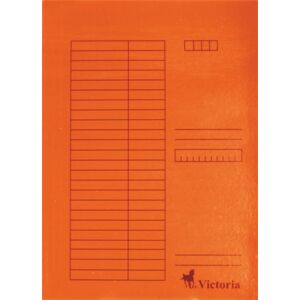 Gyorsfűzős dosszié A4 Victoria karton narancs 1csom/5db Iratrendezés Victoria