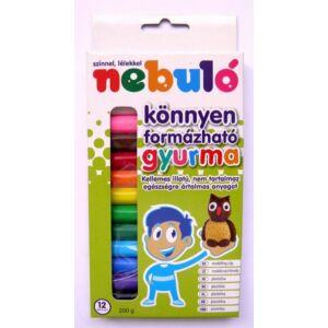 Gyurma színesNebulo 200g 12 színű NSZGY-12-200