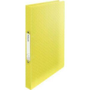 Gyűrűskönyv 25mm Esselte 2 gyűrű A4, PP Colour`Ice, sárga Iratrendezés, archiválás