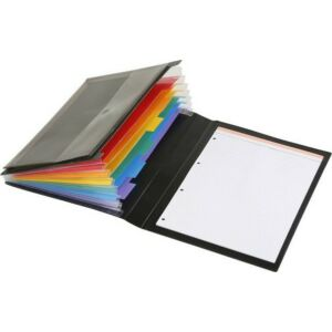 Harmonika mappa VIQUEL Manager Rainbow Class 6rekesz PP fekete VIQUEL 050967-03