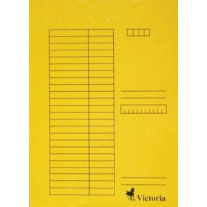 Gyorsfűzős dosszié A4 Victoria karton sárga 1csom/5db Iratrendezés Victoria