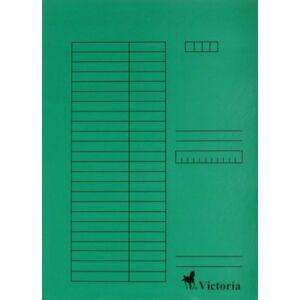 Gyorsfűzős dosszié A4 Victoria karton zöld 1csom/5db Iratrendezés Victoria