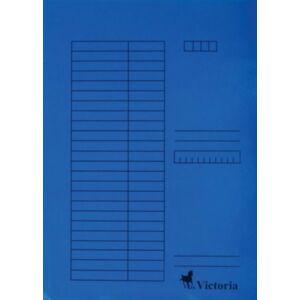 Gyorsfűzős dosszié A4 Victoria karton kék 1csom/5db Iratrendezés Victoria