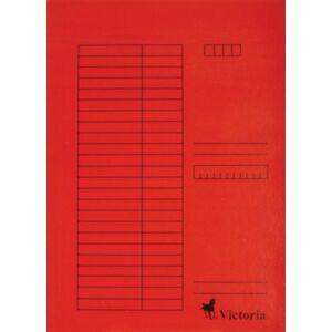 Gyorsfűzős dosszié A4 Victoria karton piros 1csom/5db Iratrendezés Victoria