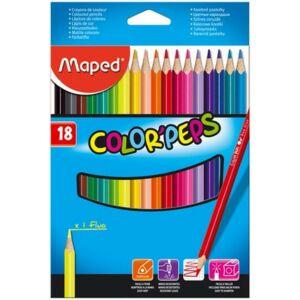 Színes ceruza 18 Maped Color'Peps háromszögletű 18színű Írószerek MAPED 183218