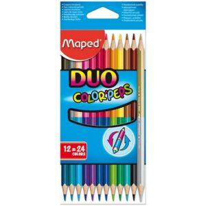 Színes ceruza 12 Maped Color'Peps Duo/kétvégű háromszög 24szín Írószerek MAPED 829600