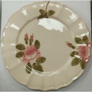 Kerámia romantik rózsás lapostányér Kézzel festett porcelán