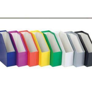 Iratpapucs karton fehér Anyaga: 8gr-os mázolt duplex karton Mérete.: 26,7x24,5x9,3cm