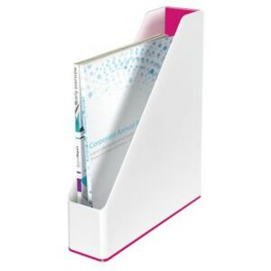 Iratpapucs műanyag Leitz 73 mm, kettős színhatású Wow, rózsaszín