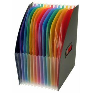 Iratpapucs műanyag VIQUEL Rainbow Class 12részes színregiszteres Iratrendezés VIQUEL 011167-05