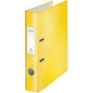 Iratrendező 52mm Leitz A4, karton, Wow, sárga Iratrendezés, archiválás