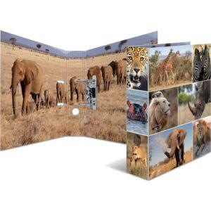 Iratrendező 70mm Herma Animal A4-es emelőkaros kihúzólyukkal ellátott Afrikai állatok mintával 7168