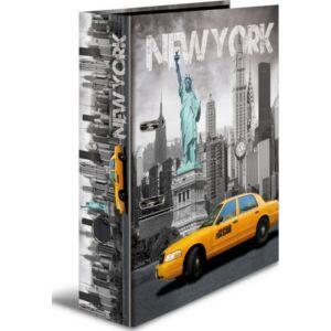 Iratrendező 70mm Herma Cities A4-es emelőkaros kihúzólyukkal ellátott Városok/New York mintával 7171