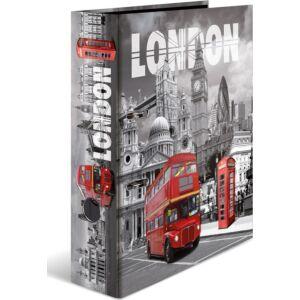 Iratrendező 70mm Herma Cities A4-es emelőkaros kihúzólyukkal ellátott Városok/London mintával 7172