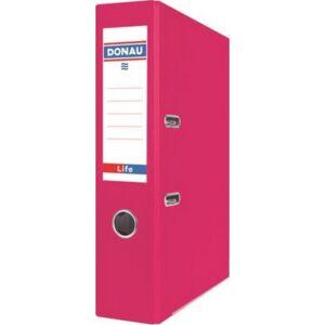 Iratrendező 75mm A4 Donau Life PP/karton neon rózsaszín Iratrendezés DONAU 3969001PL-30