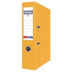 Iratrendező 75mm A4 Donau Life PP/karton neon sárga Iratrendezés DONAU 3969001PL-11
