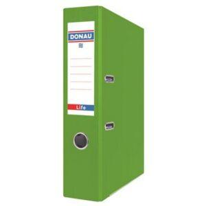 Iratrendező 75mm A4 Donau Life PP/karton neon zöld Iratrendezés DONAU 3969001PL-06
