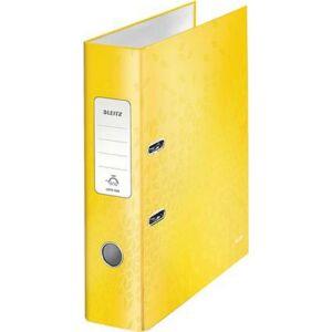 Iratrendező 80mm Leitz A4, karton, Wow, sárga Iratrendezés, archiválás