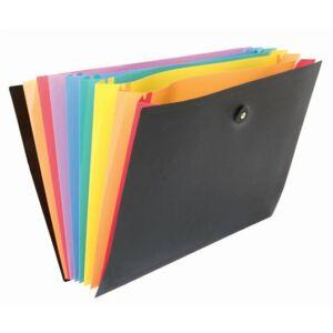 """Irattartó mappa, csúsztatható gumis, 6 részes, VIQUEL """"Rainbow Class"""","""