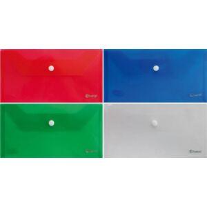 Irattartó tasak LA4 patentos vegyes színű csekkes 24x12cm-es