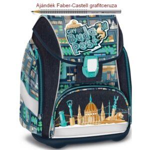 Iskolatáska Ars Una ergonómiku City of Budapest 19 világítós csattal Há Anatómiai - M hátizsák prémium minőség