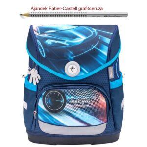 Iskolatáska Belmil ergonómikus 21' Compact  Compact Race Blue 405-41 30.5x37x19cm kb. 19l - 920-1050g