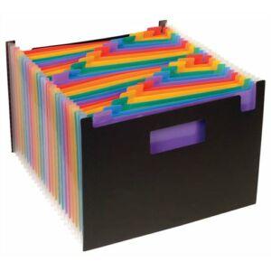 Harmonikairattartó VIQUEL Rainbow Class 24rekeszes PP fekete VIQUEL 110987-03/493067