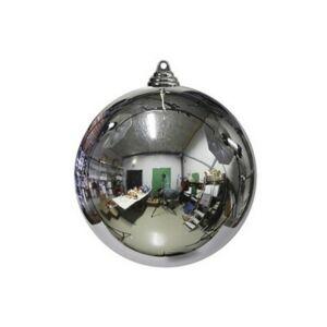 Karácsonyi 40cm gömb 20' műanyag ezüst fényes