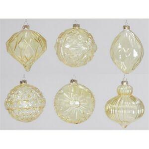Karácsonyi 15cm gömb 20' Dísz átlátszó arany