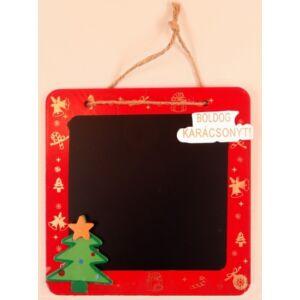 Karácsonyi kívánságtábla ajtódísz