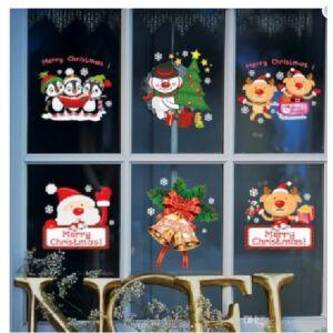 Karácsonyi ablakmatrica 60x90cm , karácsonyi figurák Karácsonyi dekoráció
