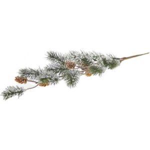 Karácsonyi dekor ág 58cm zöld színű Fenyőfa havaság tobozzal Karácsonyi dekoráció
