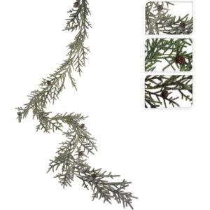 Karácsonyi dekor girland 180cm tobozos, 3féle zöld színben Karácsonyi fenyőfadísz dekor
