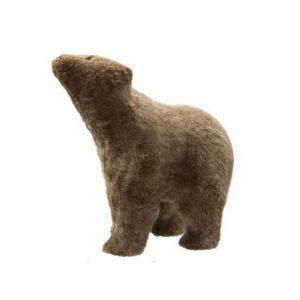 Karácsonyi dekor medve 20' álló textil 38x20x39cm barna