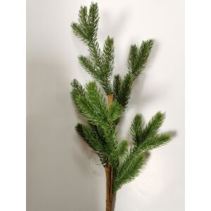 Karácsonyi dekor pick fenyőág 57cm zöld tűlevelű natúr Fenyőfa ág Dekor trend