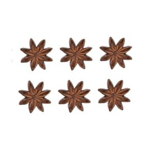 Karácsonyi dekor poly 20' Ánizs öntapadós poly 3,5cm barna S/6