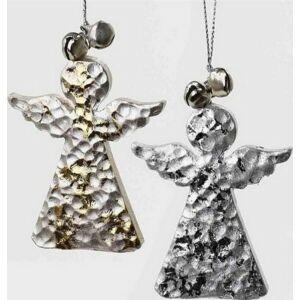 Karácsonyi dekoráció angyal 20 akasztós fém 5,5X7,5cm arany, ezüst