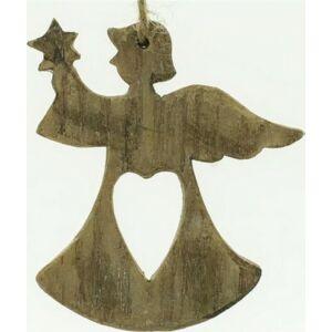 Karácsonyi dekoráció angyal 20 akasztós poly 8 x 8 x 1cm natúr