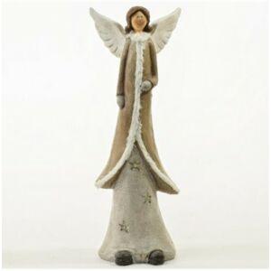 Karácsonyi dekoráció angyal 20 álló led világítással poly 16x13x43,5cm