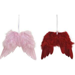 Karácsonyi 16cm dísz 20 angyalszárny pink bordó 16x15x1cm exkluzív termék